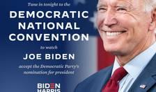 Se încheie astăzi cu discursul de nominalizare a candidatului la președintie, Joe Biden, Convenția Națională a partidului Democrat.