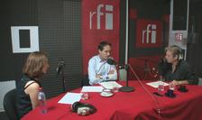 Laura Verde, Samuel Richard și Nicolas Don în studioul RFI România