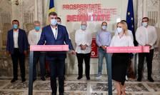 Lideri ai PSD, în conferință de presă (Sursa foto: Facebook/PSD)