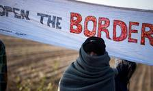 Migrant la frontiera serbo-croata în noiembrie 2016