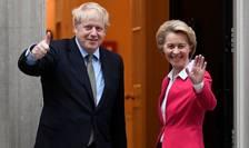 Boris Johnson și Ursula Von der Leyen