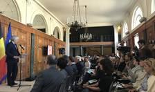 Didier Reynders, ministrul belgian al afacerilor externe, la conferinţa de presă Europalia 2019 dedicată României, Bruxelles, 6 iunie