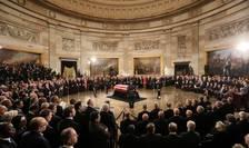 Omagiu adus celui de-al 41 președinte american George Herbert Walker Bush în clădirea Congresului de la Washington, 3 decembrie 2018.