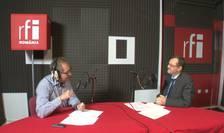Constantin Rudniţchi și Stan Tirnoveanu la radio RFI