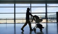 Călător la un aeroport din UK
