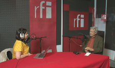 Ana-Maria Caia și Mircea Anghelescu în studioul RFI România