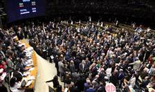 Camera Reprezentantilor din Brazilia a votat pe 2 august 2017 împotriva deschiderii unui proces de coruptie care il viza pe presedintele Michel Temer