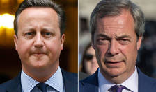 David Cameron și Nigel Farage