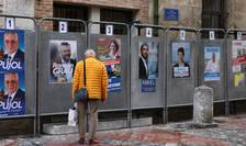 Diverse afise electorale ale candidatilor la primària din Perpignan