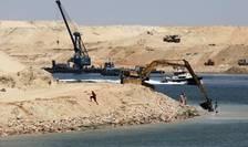 Lucràri la noul Canal Suez în iulie 2015
