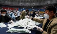 Numărătoarea voturilor la Seul, 15 aprilie 2020
