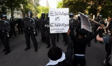 Protestatari în preajma Casei Albe, Washington, 1 iunie 2020