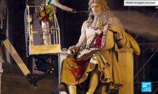 Statuia lui Jean-Baptiste Colbert din faţa Parlamentului Francez a fost vandalizată de militanţi anti-rasism