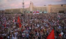 Manifestaţie la Minsk pentru plecarea de la putere a lui Lukaşenko.