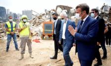 Emmanuel Macron la Beirut pe 6 august 2020.