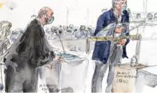 Directorul publicaţiei Charlie Hebdo, desenatorul Riss, la audierile Tribunalului parizian, 9 septembrie 2020.