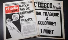 Naşterea revistei Charlie Hebdo, în 1970, ca răspuns la tentativele de cenzurare a publicaţiei Hara Kiri.