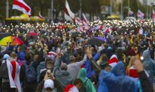 Manifestaţie la Minsk împotriva realegerii frauduloase a preşedintelui Lukaşenko