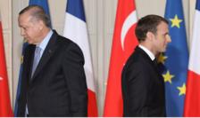 Preşedintele turc Recep Tayyip Erdogan şi preşedintele francez Emmanuel Macron.