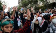 Manifestaţie la Lima în favoarea preşedintelui Martin Vizcarra, 10 noiembrie 2020.