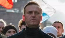 Opozantul Aleksei Navalnîi la Moscova, pe 29 februarie 2020.