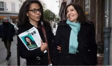 Audrey Pulvar şi Anne Hidalgo, primar al Parisului, în campanie pentru alegerile municipale, februarie 2020.