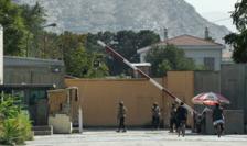Una din intrarile în zona verde ultrasecurizata a Kabulului
