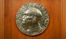 Efigia lui Alfred Nobel la Institutul Nobel de la Oslo.