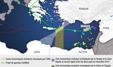 Harta tensiunilor legate de hidrocarburi în Mediterana
