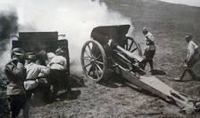 Artilerie româna la Mărăști, 1918
