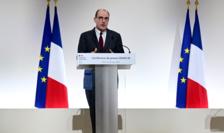 Premierul Frantei, Jean Castex, anuntând carantinarea a 16 departamente franceze pentru o perioadà de o lunà.