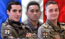 Cei trei soldati francezi ce si-au pierdut viata într-o operatiune militara din Mali.