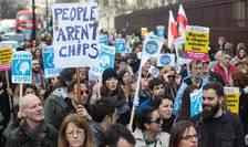 Demonstrație în favoarea drepturilor cetățenilor UE din Marea Britanie