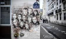 Frescà cu victimele de la Charlie Hebdo pictatà pe strada din Paris unde era redactia revistei în 2015