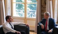 Dacian Ciolos a purtat discutii la Palatul Elysée cu presedintele Emmanuel Macron, 17 septembrie 2019