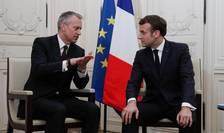 """Emmanuel Macron cu PDG-ul Coca-Cola, James Quincey cu ocazia summit-ului """"Choose France"""", luni 20 ianuarie 2020"""