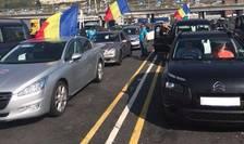 Români din diaspora pregătindu-se să plece către țară, Portul Dover, UK, 7 august 2018