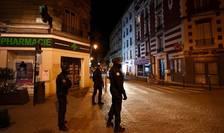 Patrulà de politie la Colombes, periferia Parisului, 22 martie 2020.