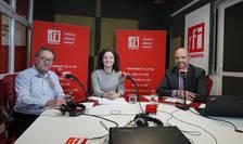 Constantin Rudniţchi, Anda Rojanschi și Dinu Bumbacea in studioul RFI Romania