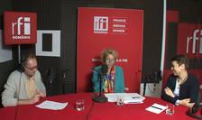 Constantin Rudniţchi, Dana Gruia Dufaut si Raluca Pârvu in studioul RFI Romania