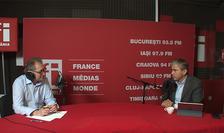 Constantin Rudniţchi și Gabriel Biriş in studioul RFI Romania