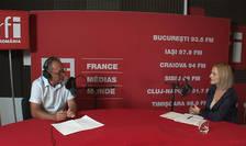 Constantin Rudniţchi și Georgiana Miron in studioul RFI Romania