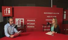 Constantin Rudniţchi si Inga Țâgai in studioul de inregistrari RFI Romania