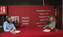 Constantin Rudniţchi și Mihaela Mitroi in studioul RFI Romania