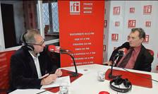 Constantin Rudniţchi și Sorin Dinu în studioul de emisie al RFI Romania