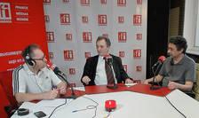 Constantin Rudniţchi, Sorin Dinu si Laurenţiu Gheorghe in studioul de emisie al RFI Romania