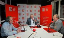 Constantin Rudnitchi, Harald Kraft si Sorin Boza in studioul RFI ROmania