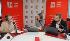 Constantin Rudnitchi, Iulia Antonie si Adrian Coman in studioul RFI Romania