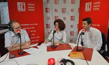 Constantin Rudniţchi, Cerasela Achim şi Marcello Lambrughi in studioul RFI Romania