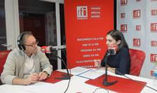 Constantin Rudniţchi și Ileana Guţu in studioul RFI Romania